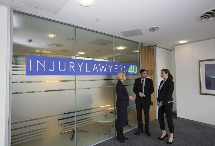 Lawyers standing in office